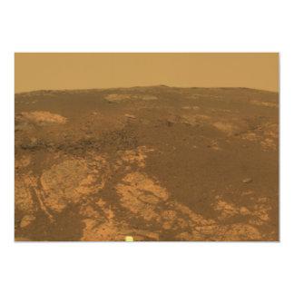 """Panorama de la colina de Matijevic de Marte Rover Invitación 5"""" X 7"""""""