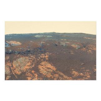 Panorama de la colina de Matijevic de Marte Rover Papeleria
