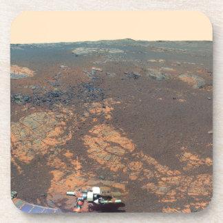 Panorama de la colina de Matijevic de Marte Rover Posavasos De Bebidas
