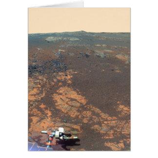 Panorama de la colina de Matijevic de Marte Rover Tarjeton