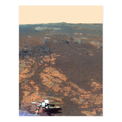 Panorama de la colina de Matijevic de Marte Rover Tarjetas Postales