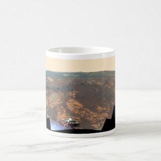 Panorama de la colina de Matijevic de Marte Rover Taza De Café