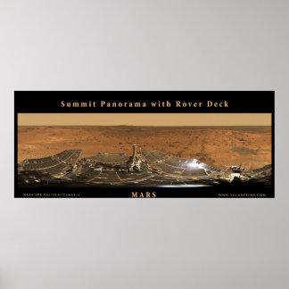 Panorama de la cumbre de Marte con la cubierta de  Póster