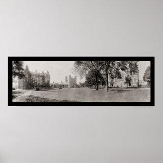 Panorama de la foto 1909 de Princeton Póster