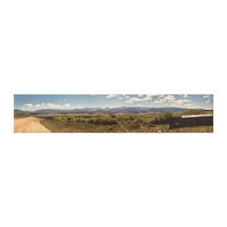 Panorama de la montaña lona estirada galerías