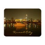 Panorama de la noche de la ciudad de Kuwait Iman Flexible