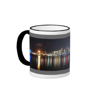 Panorama de la noche de Miami - taza de café