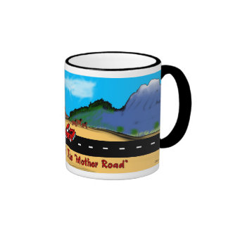 Panorama de la ruta 66 de New México Taza De Café