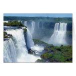 Panorama de las cascadas de Iguazu del Brasil Tarjeta De Felicitación