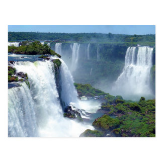 Panorama de las cascadas de Iguazu del Brasil Tarjetas Postales