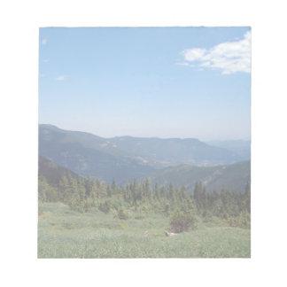 Panorama de las montañas rocosas de Colorado Blocs De Papel