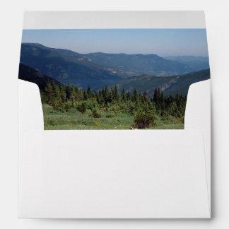 Panorama de las montañas rocosas de Colorado Sobres