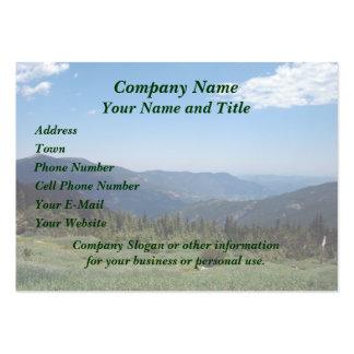 Panorama de las montañas rocosas de Colorado Tarjetas De Visita Grandes