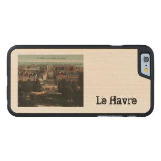 Panorama de Le Havre una ruda de París Funda De iPhone 6 Carved® Slim De Arce
