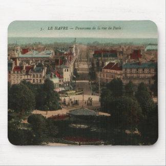 Panorama de Le Havre una ruda de París Alfombrilla De Ratón