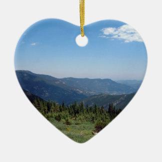 Panorama de los Colorado Rockies Ornamento Para Arbol De Navidad