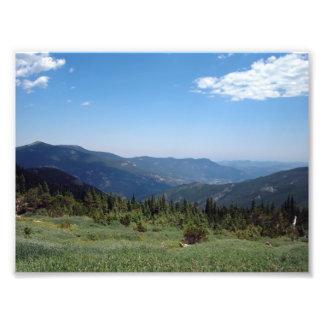 Panorama de los Colorado Rockies Impresion Fotografica