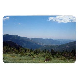 Panorama de los Colorado Rockies Imanes Rectangulares