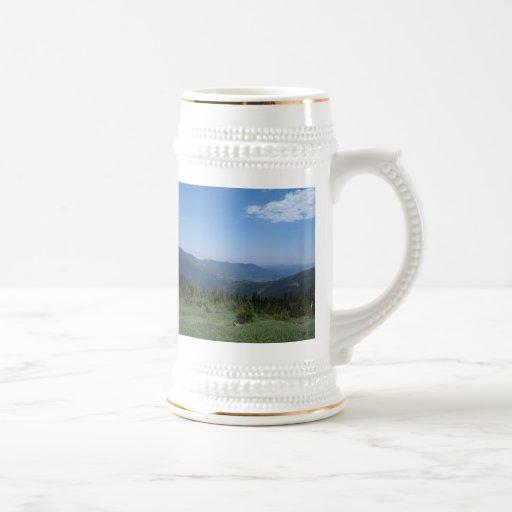 Panorama de los Colorado Rockies Tazas De Café