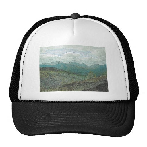 Panorama de los picos de montaña de Adirondack Gorras