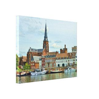 Panorama de Maastricht del río Mosa Impresion De Lienzo