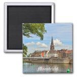 Panorama de Maastricht del río Mosa o la Mosa Imán Para Frigorífico