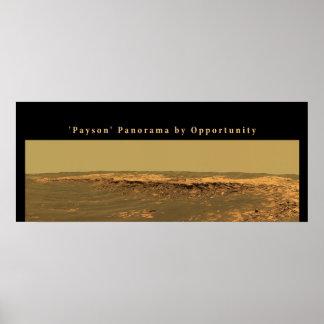 """Panorama de Marte """"Payson"""" por oportunidad Póster"""