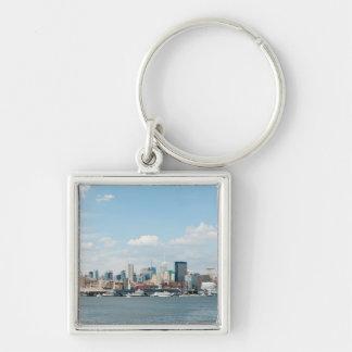 Panorama de Midtown Manhattan sobre el río Hudson Llavero