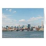 Panorama de Midtown Manhattan sobre el río Hudson Tarjeta De Felicitación