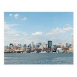 Panorama de Midtown Manhattan sobre el río Hudson Tarjetas Postales