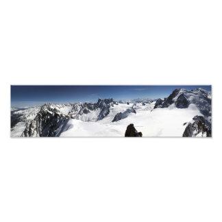 Panorama de Mont Blanc Impresiones Fotográficas
