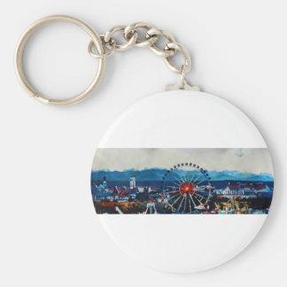 Panorama de Munich Oktoberfest con las montañas y Llaveros Personalizados