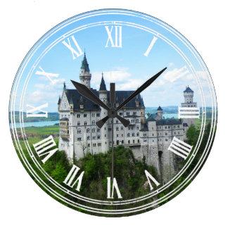 Panorama de Neuschwanstein Reloj Redondo Grande