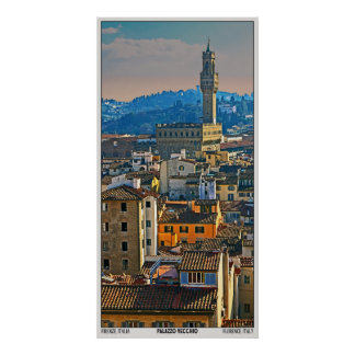 Panorama de Palazzo Vecchio (vertical) Posters