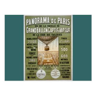 Panorama de Paris 1878. Postcard