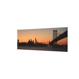 Panorama de Philadelphia Pennsylvania Lienzo Envuelto Para Galerias