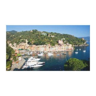 Panorama de Portofino Lienzo Envuelto Para Galerias