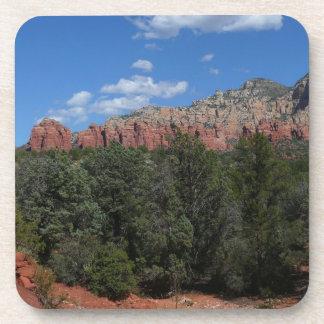 Panorama de rocas rojas en Sedona Arizona Posavasos De Bebidas