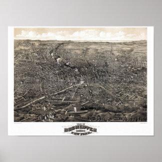 panorama de Rochester Nueva York de los 1880's Posters
