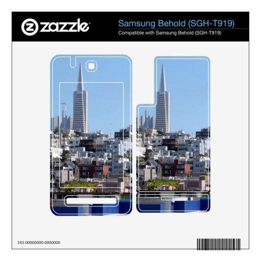 Panorama de San Francisco Calcomanías Para Samsung Behold