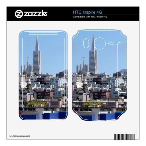 Panorama de San Francisco Calcomanías Para HTC Inspire 4G