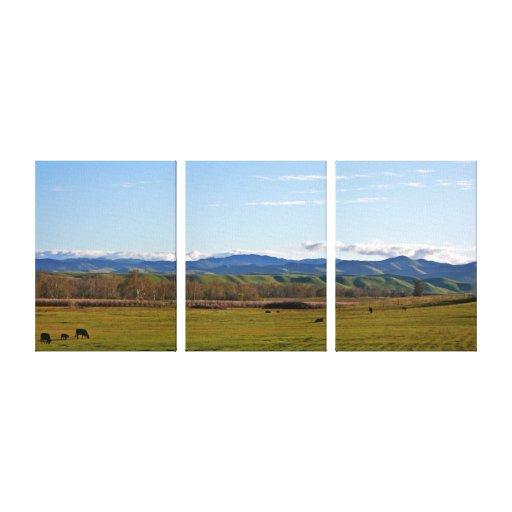 Panorama de San Joaquin Valley Impresion En Lona