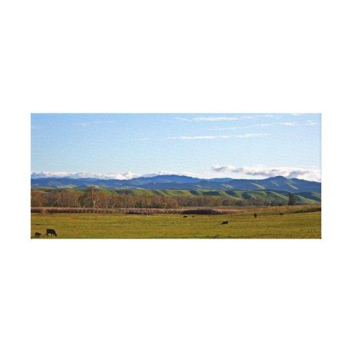 Panorama de San Joaquin Valley Impresiones En Lona