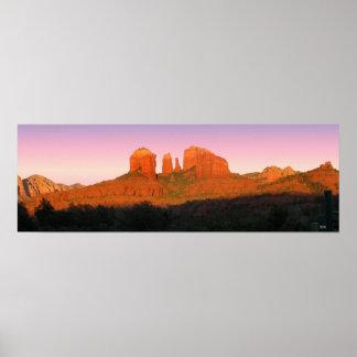 Panorama de Sedona de la roca de la catedral Impresiones