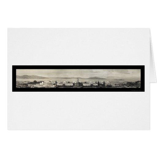 Panorama de Vallejo de la foto 1914 de SF Tarjeta De Felicitación