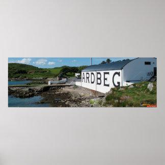 panorama de Whisky com Ardbeg Posters