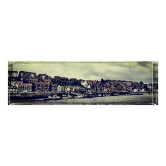 Panorama de Whitby Poster
