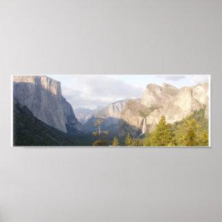 Panorama de Yosemite Póster
