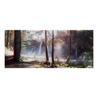 Panorama del anáglifo de las caídas 3D de MacArthu Poster