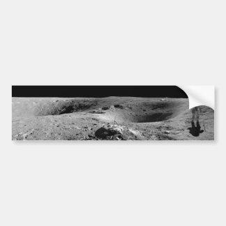 Panorama del astronauta de Apolo 16 en la luna Pegatina Para Auto
